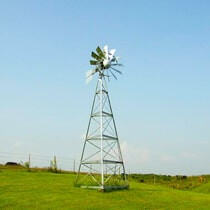 3-Leg Galvanized Ornamental Windmills
