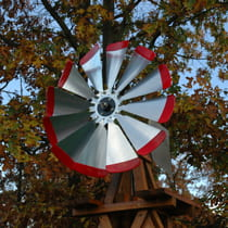 Decorative Wooden Backyard Windmills