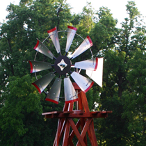 Decorative Wood Backyard Windmills