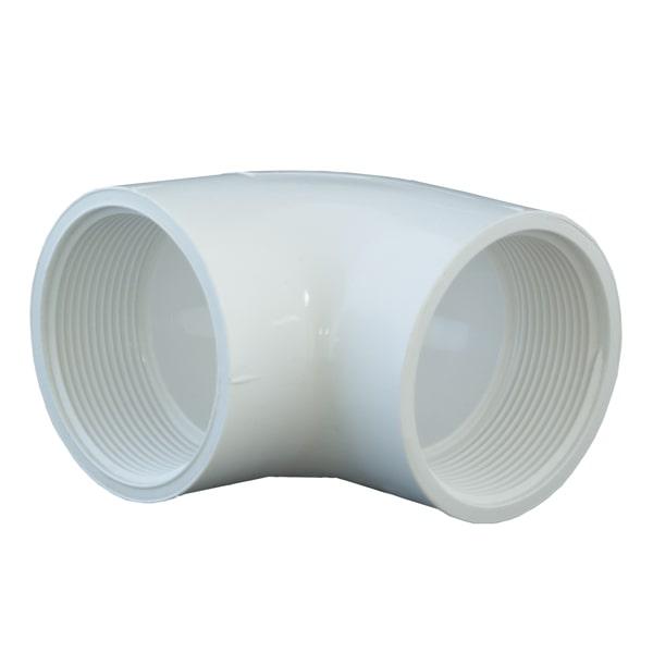 90º PVC Plumbing Elbow - (FPT x FPT)