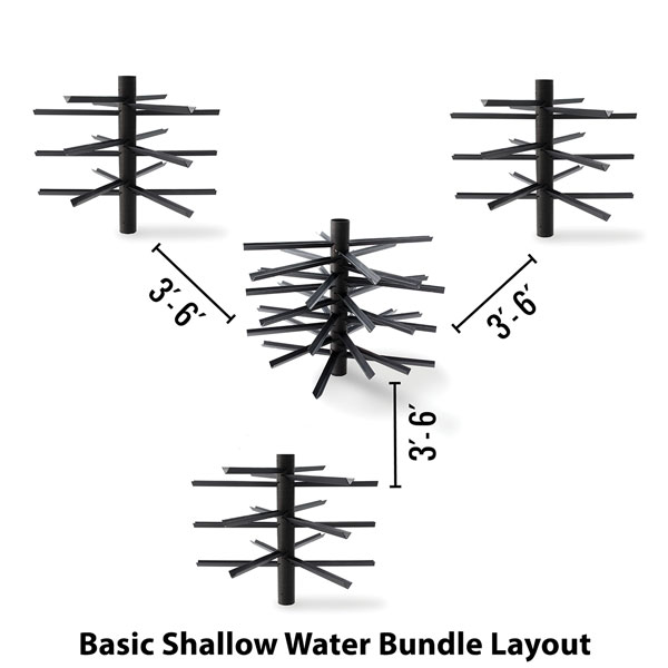 MossBack Fish Habitat Shallow Water Bundles