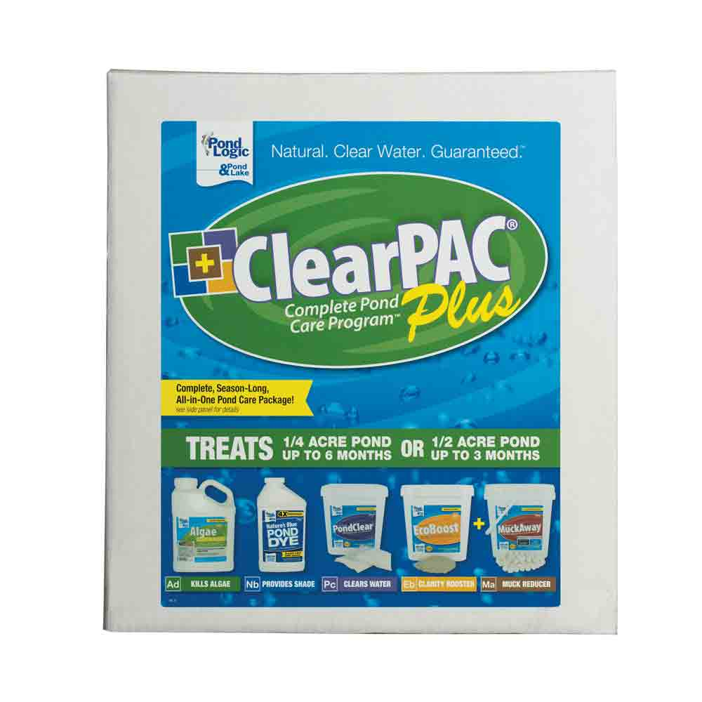 Pond Logic<sup>&reg;</sup> ClearPAC<sup>&reg;</sup> Plus Pond Care Packages
