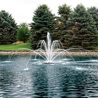 The Pond Guy® AquaStream™ Premium Double Arch & Geyser Fountain Nozzle 1/2 HP
