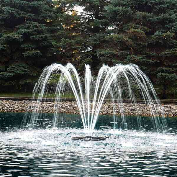 The Pond Guy® AquaStream™ Premium Single Arch Fountain Nozzle 1/2 HP