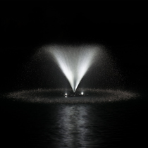 AquaStream™ 1/2 HP Fountain & White LED Light Set, 2 to 8 Lights