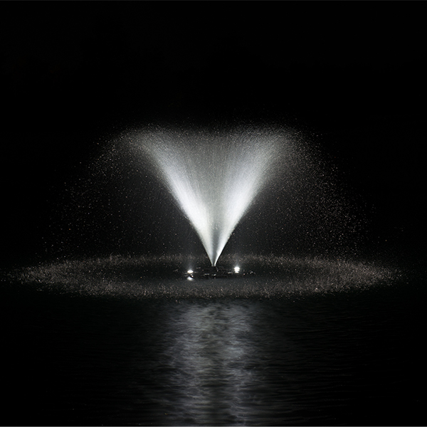 AquaStream™ 1/2 HP Fountain & White LED Light Set, 2 to 8 Lights