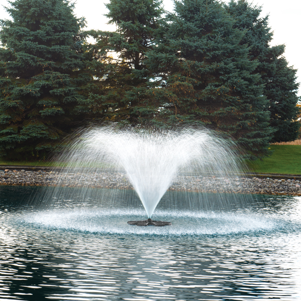 Pond water fountains pond fountain aerator the pond guy for Pond features and fountains