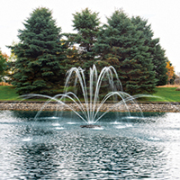 The Pond Guy(r) AquaStream(tm) 1/2 HP Fountain Double Arch Nozzle Optional