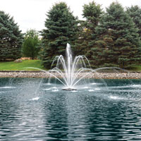 The Pond Guy(r) AquaStream(tm) 1/2 HP Fountain Double Arch & Geyser Nozzle Optional