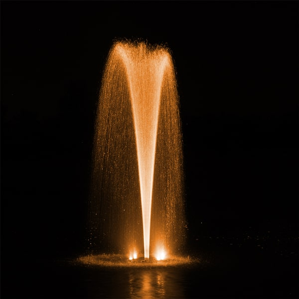AquaStream Combo 1/2 HP Fountain & RGBW Color-Changing Light Set 2 to 8 Lights