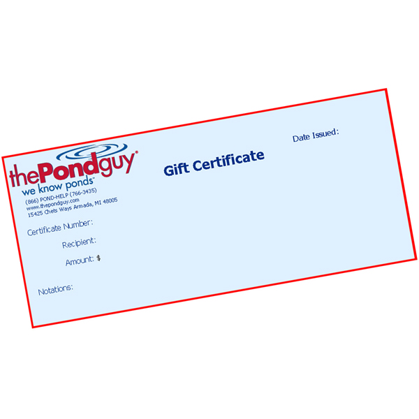 The Pond Guy Gift Certificate