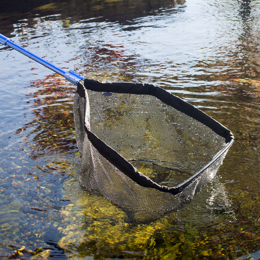 Heavy duty pond net hand skimmer net the pond guy for Koi pond removal