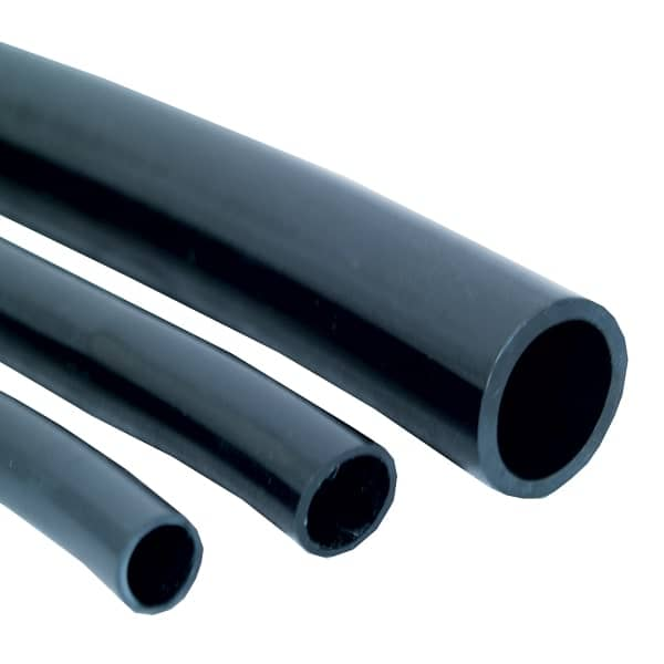 Flexible Black Vinyl Tubing - 1 Inch
