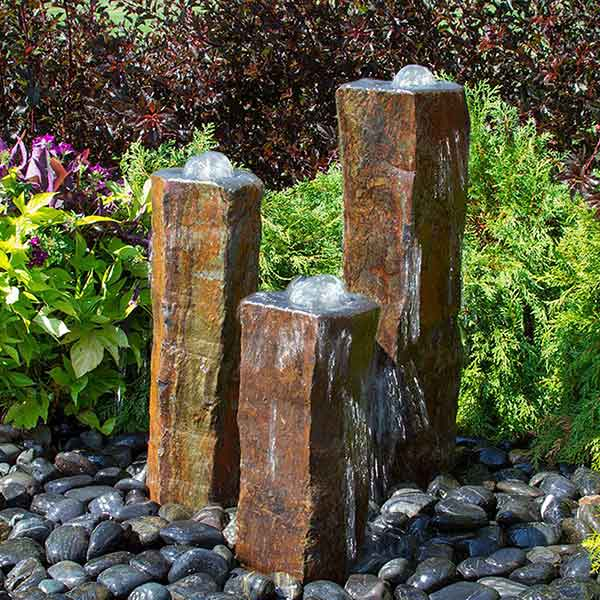 Polished Bowl Basalt Fountain Kit