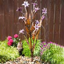 Copper Lilac Trumpet Flower Fountain Kit