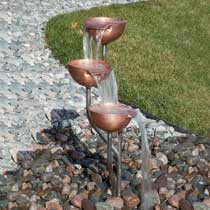 Harmony Springs Antique Steel Cup Fountain Kit