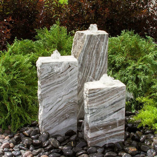 Triple Glacier Marble Fountain Kit
