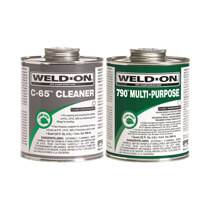 Weld-On® Multi-Purpose PVC Cement & Cleaner