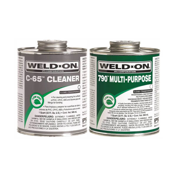Weld-On Multi-Purpose PVC Cement & Cleaner