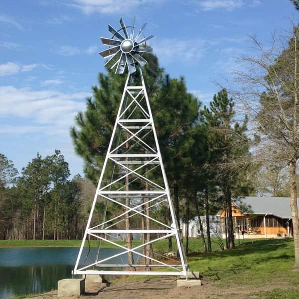 4-Leg Galvanized Windmill Aeration Systems