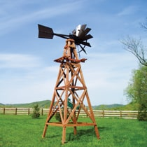 4-Leg Wooden Windmill Aeration Systems