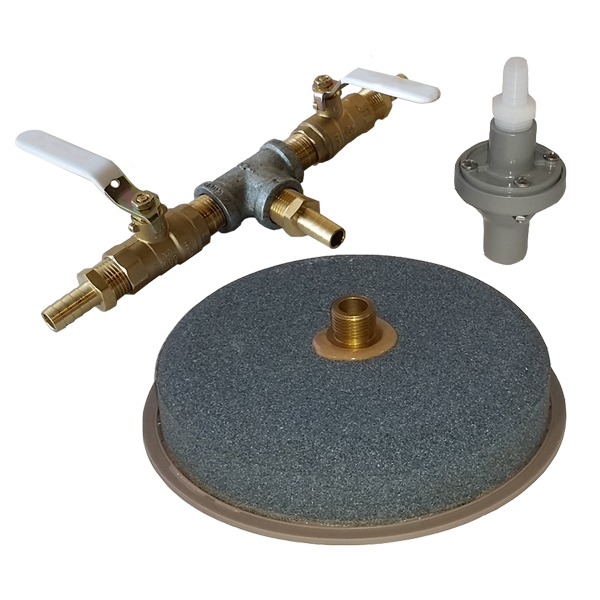 Windmill Diffuser Air Stone w/Backflow Valve & 2 Way Valve