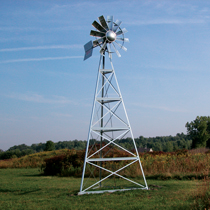 3-Leg Galvanized Windmill Aeration Systems