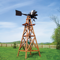4-Leg Wooden Windmill Aeration Systems