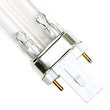 9 Watt Replacement UV Bulb G23 2-Pin Base Single Clip 6.5 Long