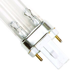 9 Watt Replacement UV Bulb G23 2-Pin Base Single Clip 6.5-Inch Long