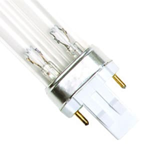 13 Watt Replacement UV Bulb GX23 2-Pin Base Double Clip 7.25 Long