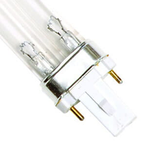 7 Watt Replacement UV Bulb G23 2-Pin Base Single Clip 5.35-Inch Long