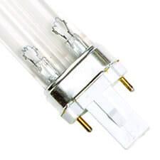 12 Watt Replacement UV Bulb G23 2-Pin Base Single Clip 4.75 Long