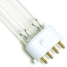 "9 Watt UV Bulb (4 Pin - In a Row) - 6.5"" Long"
