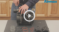 Airmax® Piston Compressor RP50 (72R) 1/2 HP Maintenance Kit with Valve Plate Installation Video