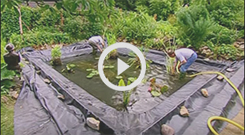 Firestone PondGard 45 Mil EPDM Liner Video