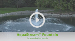 The Pond Guy(r) AquaStream(tm) Fountain - Crown and Rocket Nozzle