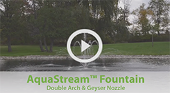 The Pond Guy(r) AquaStream(tm) Fountain - Double Arch and Geyser Nozzle