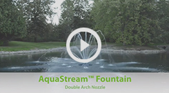The Pond Guy(r) AquaStream(tm) Fountain - Double Arch Nozzle