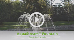 The Pond Guy(r) AquaStream(tm) Fountain - Single Arch Nozzle