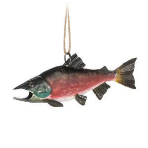 Fishy Ornaments Metal Coho