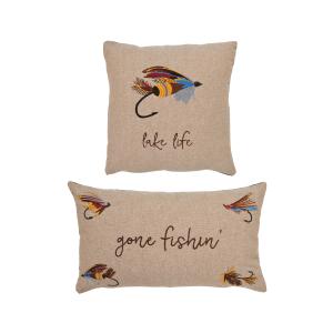 Gone Fishin & Lake Life Pillow