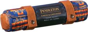 Pendleton Travel-ready Roll-up Games Chess & Checkers