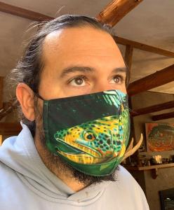 Brown Cruising Face Mask