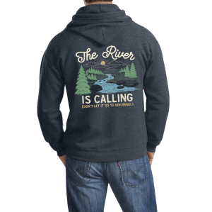 River Is Calling Zippered Hooded Sweatshirt
