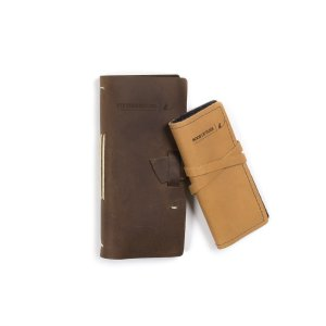 Mayfly Leather Book of Flies & Log Set