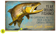 Personalized Signs On Wood Or Metal - Year Round Fishing