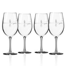 Hand Etched Fly Fishing Glassware 18oz Wine Glass