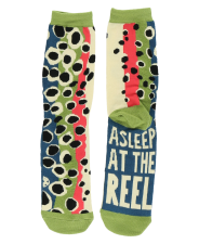 Asleep At The Reel Trout Crew Sock