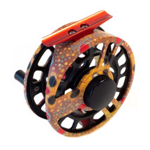 Limited Edition Hydro Dip Boost 350 Brown Trout Cheeky Fly Reel